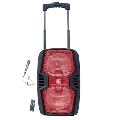 "Nutek Dual 6.5"" Trolley BT Speaker - TS-4388 - Red"