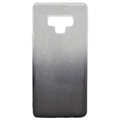 TPU Clear PC with Glitter for Samsung Galaxy Note 9 - Silver Black