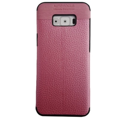 Galaxy S8 Plus Soft Leather Texture Slim Case - Pink