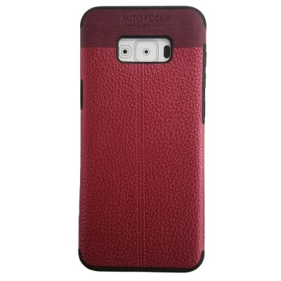 Galaxy S8 Plus Soft Leather Texture Slim Case - Red