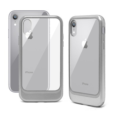 Crystal Transparent Color Edged Case for Iphone XR - Silver