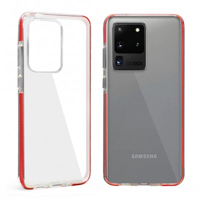 Design Edge Clear TPU for Galaxy S20 Ultra - Red