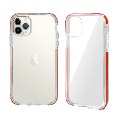 Design Edge Clear TPU for Iphone 11 Pro Max-Red