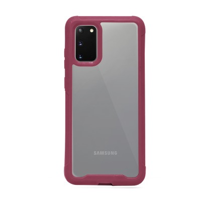 Heavy Duty Clear Back Case - Galaxy S20 - Plum