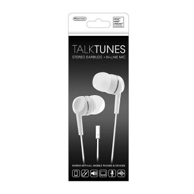 TalkTunes Stereo Earbuds in-line MIC-White