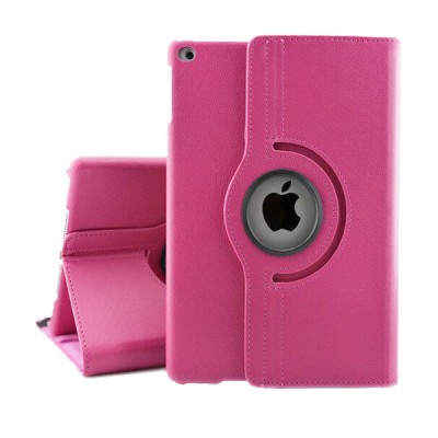 Rotating Leather Case for iPad Mini 2/3 - Pink