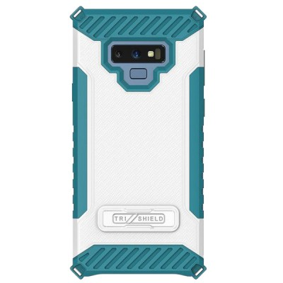 Tri-Shield Kick Stand for Galaxy Note 9 - Blue and White