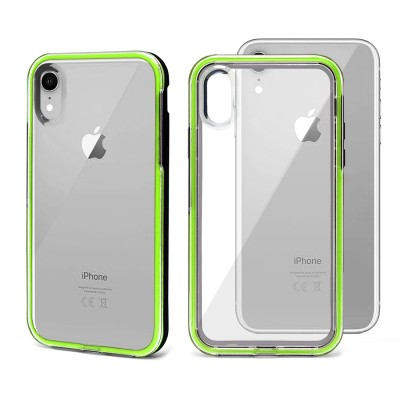 Shock Proof Crystal Back Case for Iphone XR -Green