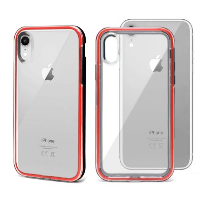 Shock Proof Crystal Back Case for Iphone XR -Red