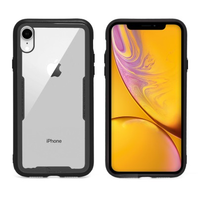 Clear Temper Glass Case for Iphone XR - Black