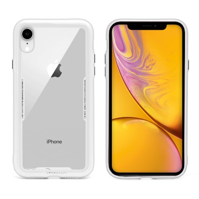 Clear Temper Glass Case for Iphone XR - White