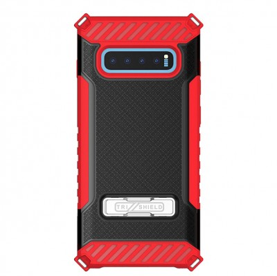 Tri-Shield Kick Stand for Galaxy S10 Plus - Red