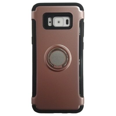Galaxy S8 Plus Rugged Ring Stand Slim Armor Case - Rose Gold