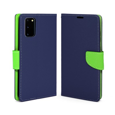 Premium Wallet Case for Galaxy S20 - Blue/Green