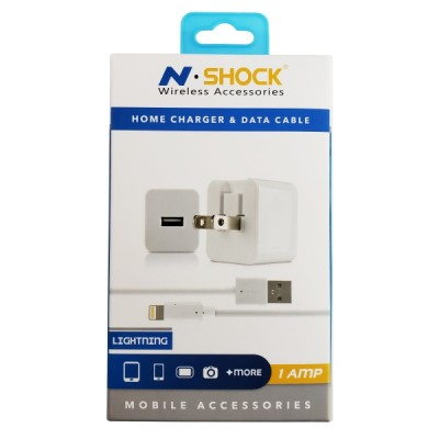 N-Shock iPhone Lightning USB Home Charger - 1 AMP