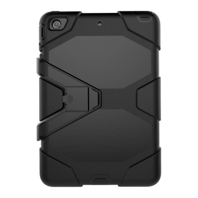 Heavy Duty Hybrid Case For iPad Mini 1,2,3 w/ Kickstand - Black