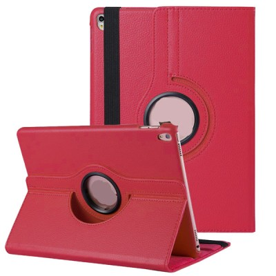 Rotating Leather Case for iPad Pro 10.5 2nd Generation - Red