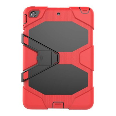 Heavy Duty Hybrid Case For iPad Mini 1,2,3 w/ Kickstand - Red