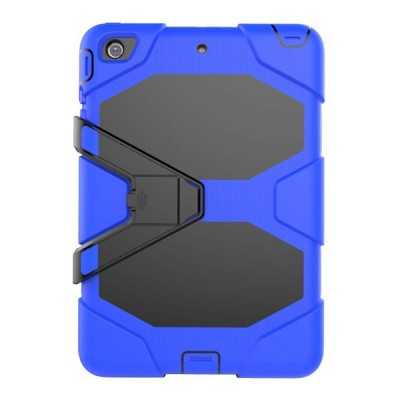 Heavy Duty Hybrid Case For iPad Mini 1,2,3 w/ Kickstand - Blue