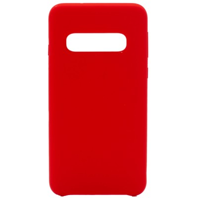 Soft Silicone Case for Samsung Galaxy S10 - Red