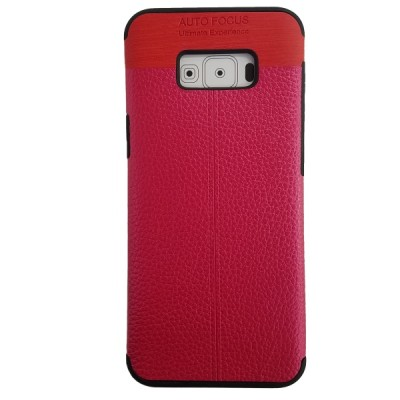Galaxy S8 Plus Soft Leather Texture Slim Case - Hot Pink
