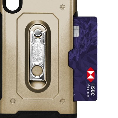 Credit Card Metal KS Case for IPhone XR - Gold