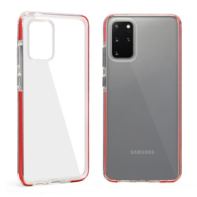 Design Edge Clear TPU for Galaxy S20 Plus - Red