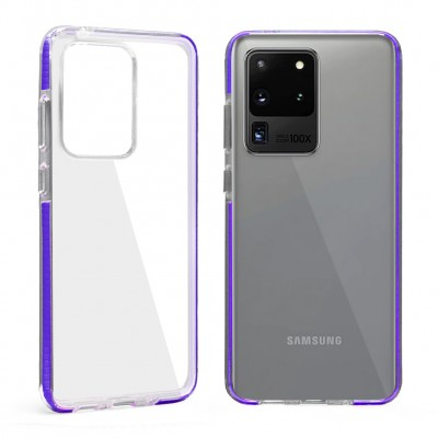 Design Edge Clear TPU for Galaxy S20 Ultra - Purple