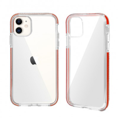 Design Edge Clear TPU for Iphone 11 - Red