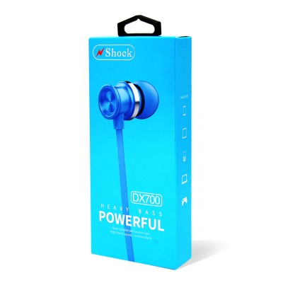 N.Shock DX700 Heavy Bass Powerfull Headset-Blue