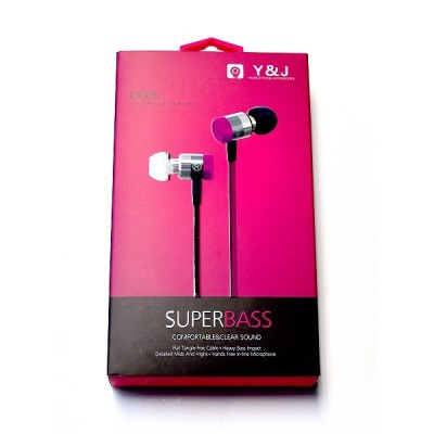 N Shock EX-900 Super Bass Metallic Stereo Headset w/ Mic - Pink