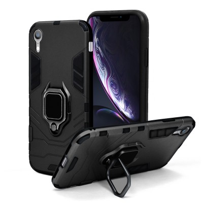 Fashion Design Hybrid Ring Stand - Iphone XR-Black