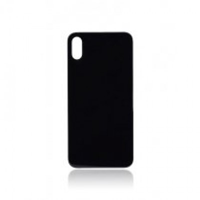 BACK COVER GLASS FOR IPHONE X (BLACK)