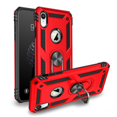 Heavy Duty Design Ring Stand for Iphone XR -Red