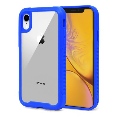 Heavy Duty Clear Back Case - Iphone XR - Blue