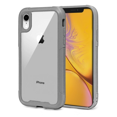 Heavy Duty Clear Back Case - Iphone XR - Grey