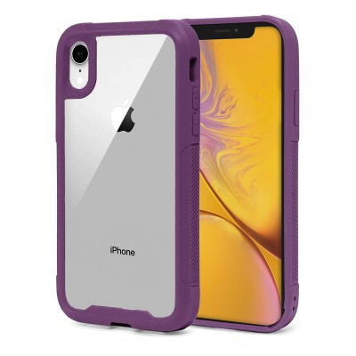 Heavy Duty Clear Back Case - Iphone XR - Plum