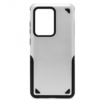 Hybrid Armor Rugged ShockProof for Galaxy S20 Ultra - Silver