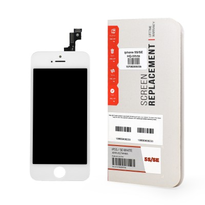 iPhone 5S/SE HQ Screen and Digitizer Assembly, White
