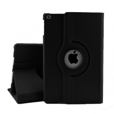 Rotating Leather Case for iPad Mini 2/3 - Black