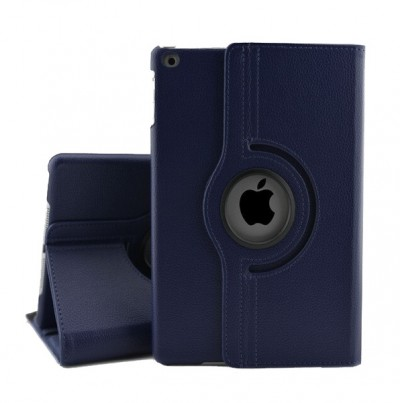 Rotating Leather Case for iPad 5/6 9.7in - Blue