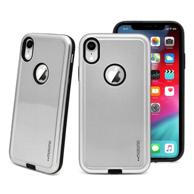 Motomo Slim Armor Case - Iphone XR - Silver
