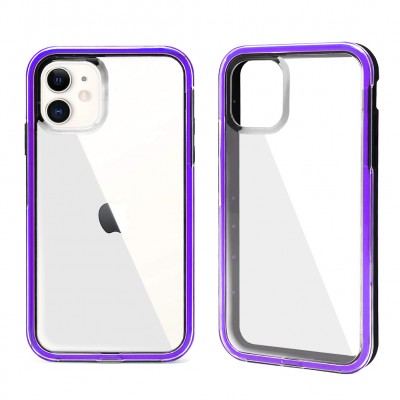 Shock Proof Crystal Back Case for Iphone 11 -Purple