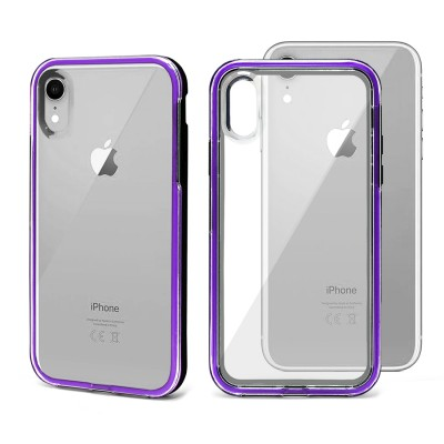 Shock Proof Crystal Back Case for Iphone XR -Purple