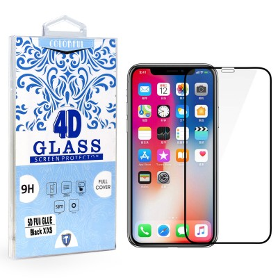 Full Edge Temper Glass Black - Iphone X/XS