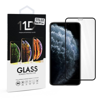 11D Premium Temper Glass Black - Iphone 11 pro