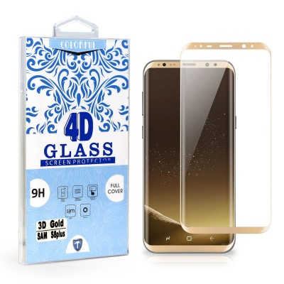 Full Edge Temper Glass 3D Gold - Galaxy S8 Plus